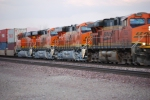 BNSF 7505 Leads a westbound Z with three brand new ES44DC's BNSF 7856/BNSF 7855/BNSF 7854.